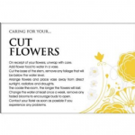 CARE CARD - CUT FLOWER  60-00569